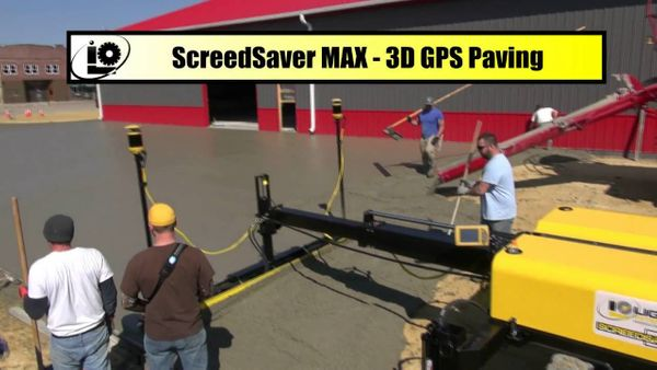 Concrete Paving: SCREEDSAVER™ MAX Uses 3D GPS To Conquer This Job