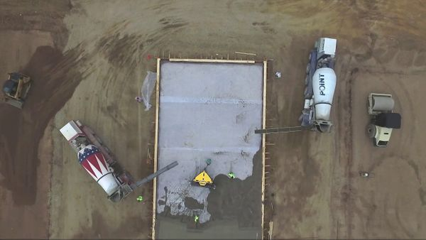 Concrete Slab Watch Ligchine's SPIDERSCREED™ Perform From The Viewpoint Of A Drone