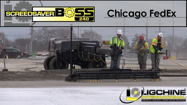Parking Lot: The SCREEDSAVER™ BOSS With Topcon LPS