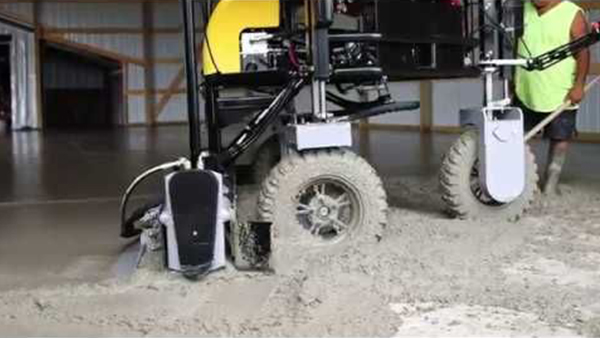 Residential Applications Watch The SPIDERSCREED In Action The First Drive-In Screed From Ligchine